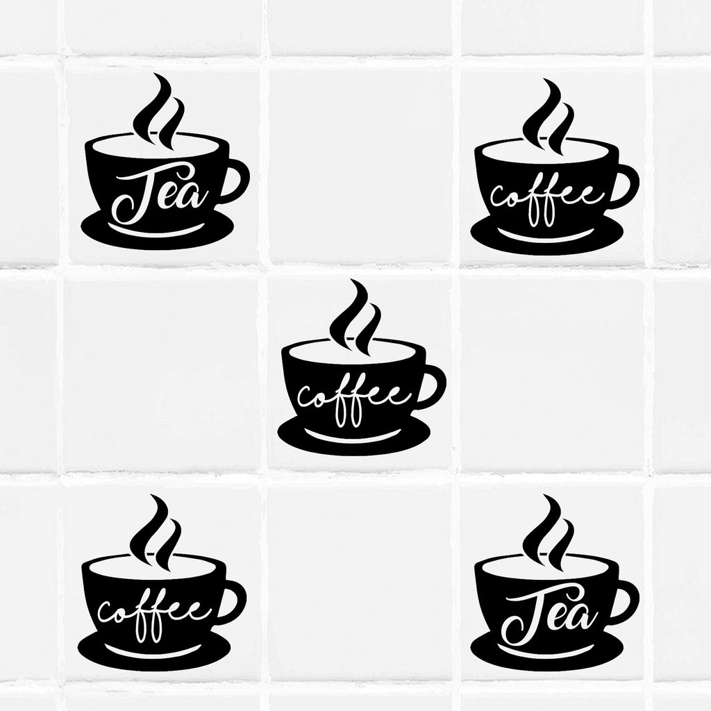 Coffee Cup Tile wall Sticker for Kitchen