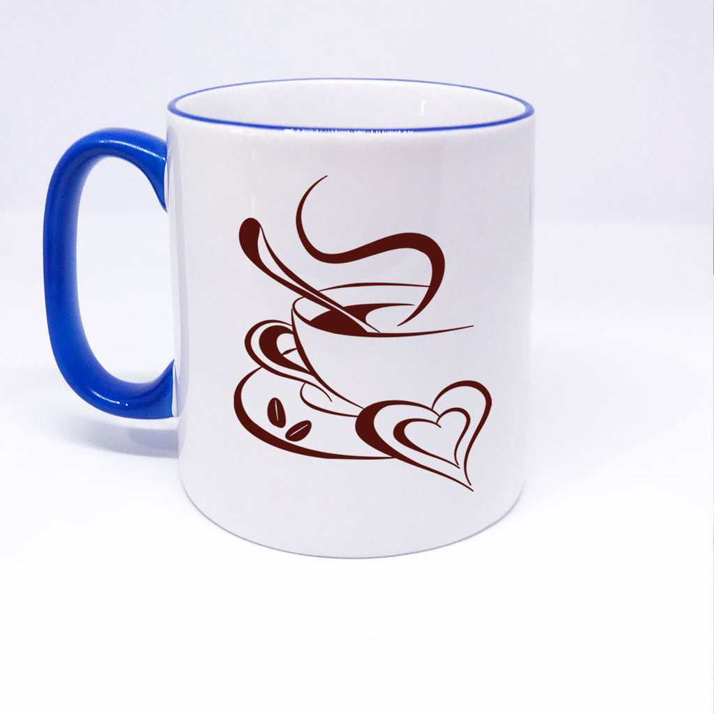 Coffee Cup with Heart shape printed Coffee Mug