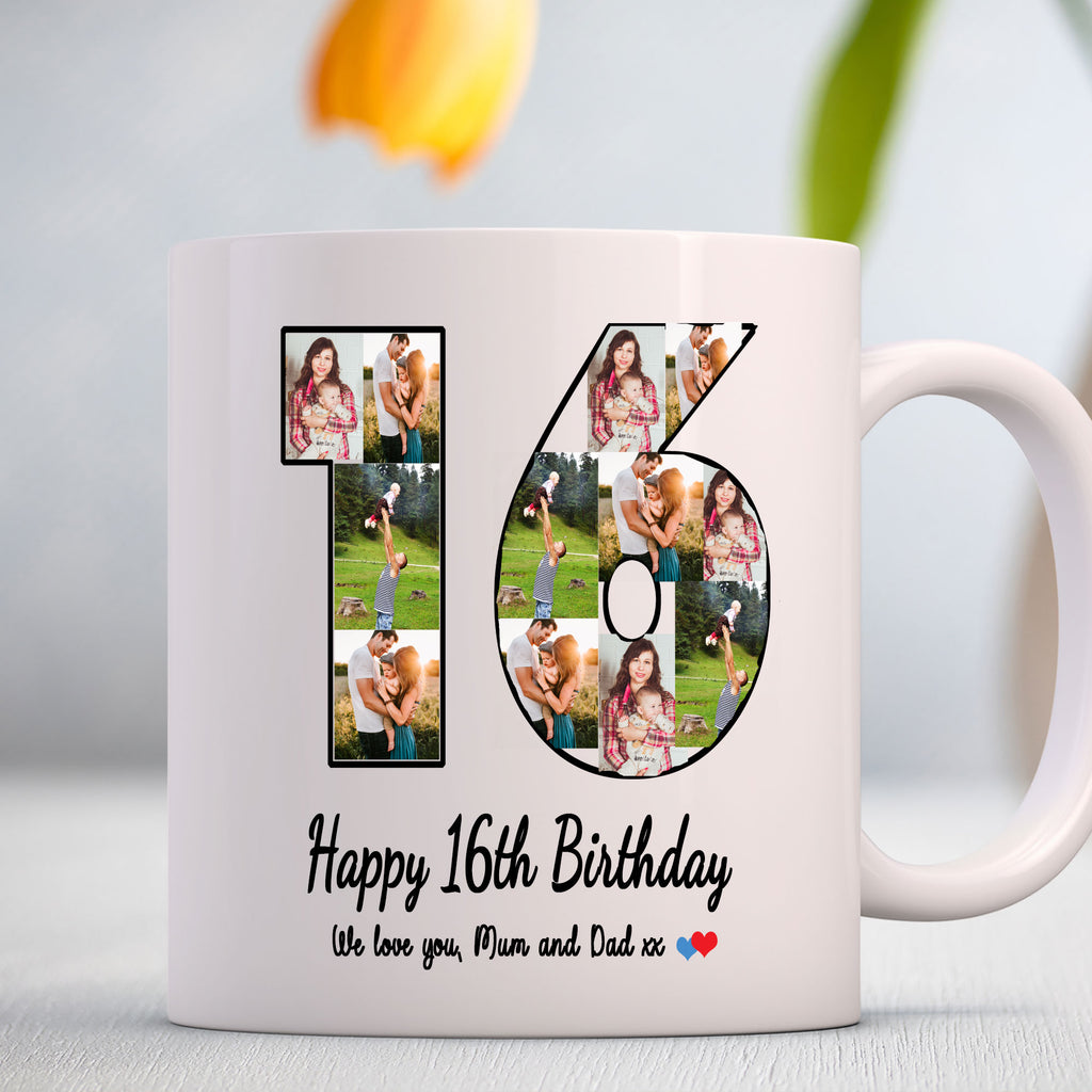 Photo & Number Customizable coffee mug for Parents