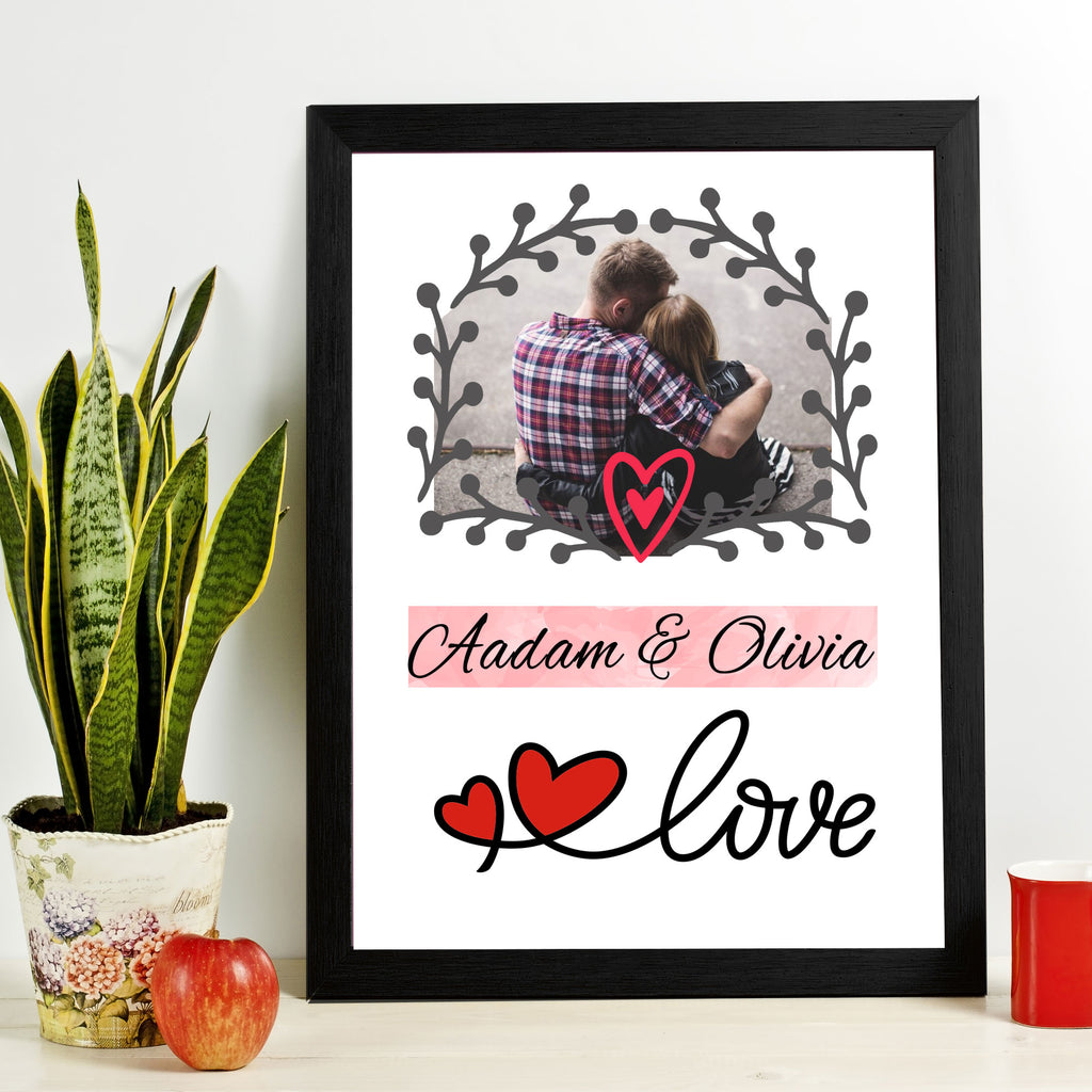 Couple Picture Frame with Personalized Name