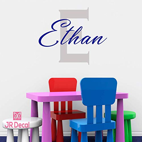 Boy Personalised name sticker with Monogram