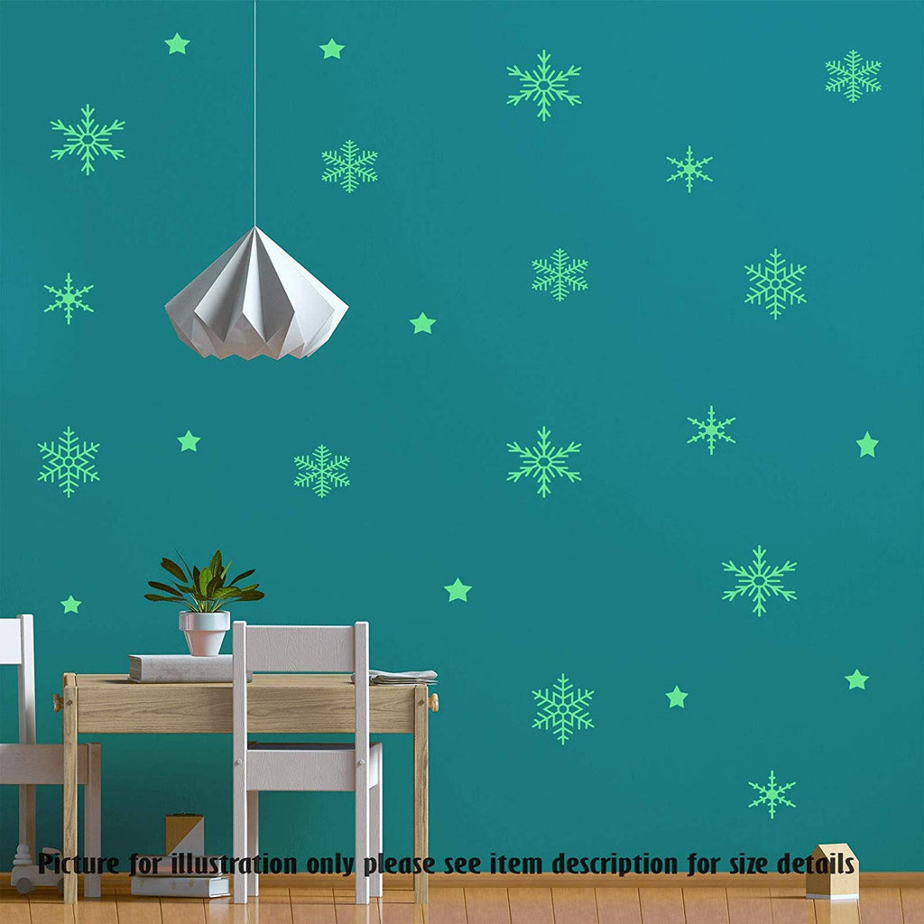 Set of 60 Snowflakes Wall stickers