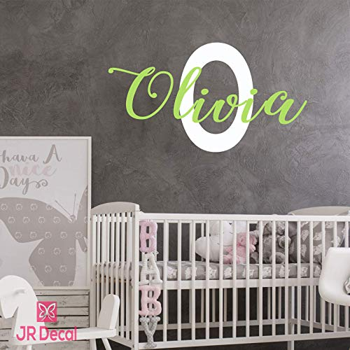 Custom name wall sticker Monogram for Baby Girls