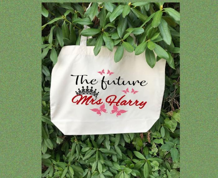 The future Mrs. - Printed Canvas Tote Bag, Personalised Canvas Tote Bag, wedding gifts, Bridal Party Gifts, Beach Wedding Bridesmaid gifts