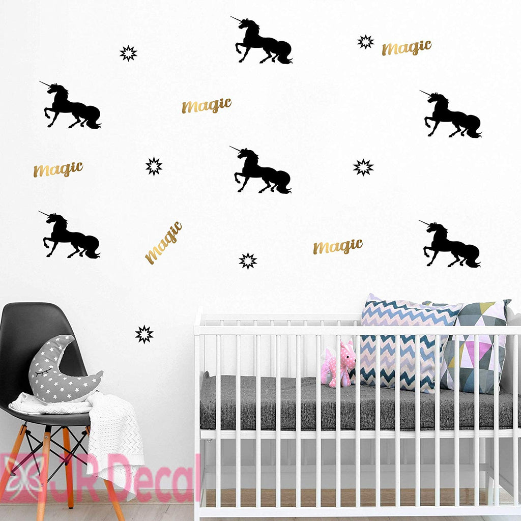 Unicorn Magic Wall Stickers Girls bedroom nursery decor