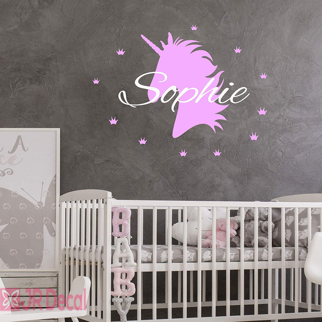 Unicorn with Crown set Personalised Name Sticker