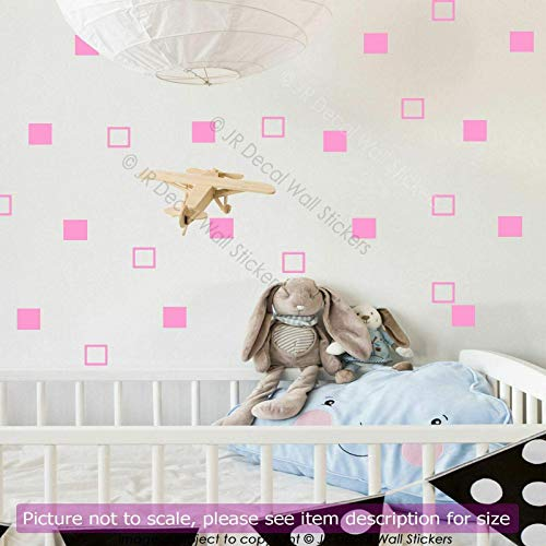 5 cm Square shape Removable Vinyl Wall Decals