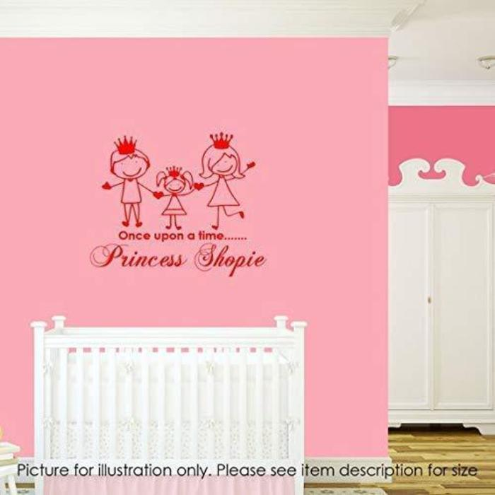 Once upon a time PERSONALISED name Family figure Wall Art Stickers