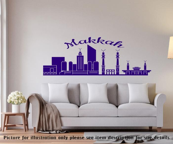 Home Decor Vinyl Wall Decal The city of Macca Islamic Mosque Decor