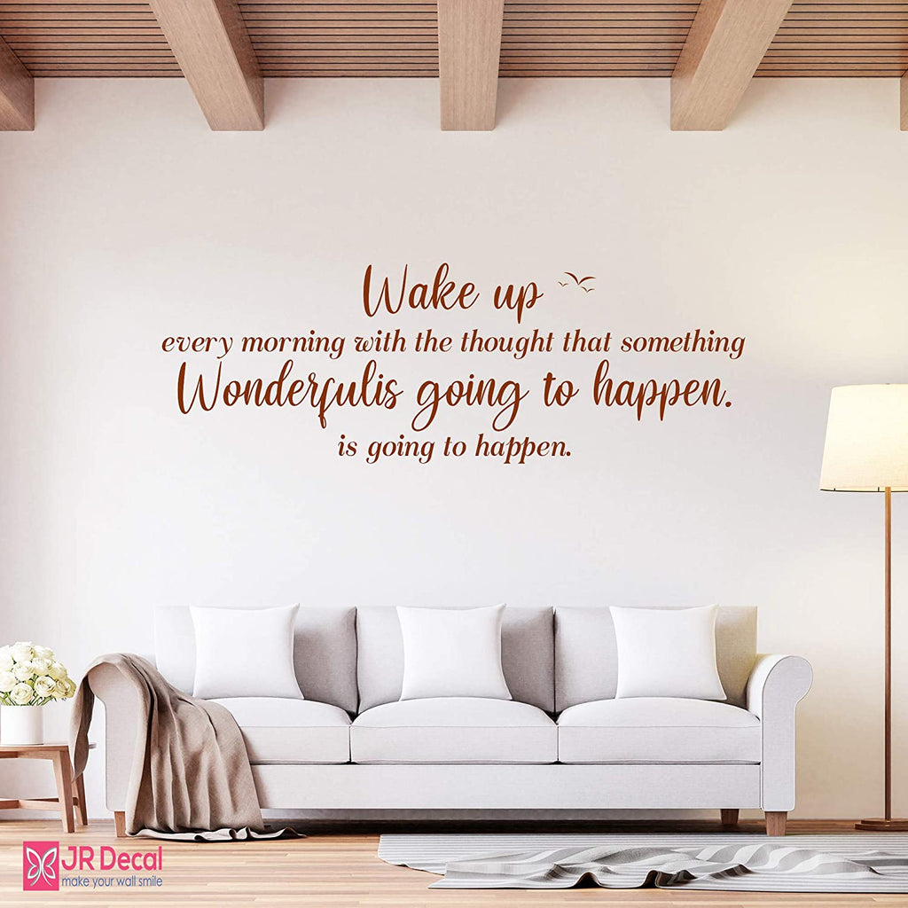 Wake up every morning- Inspirational quotes Wall Stickers