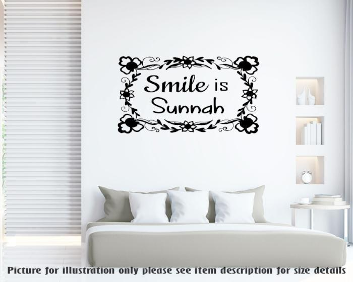 Smile is Sunnah  Islamic Removable Wall Art Sticker