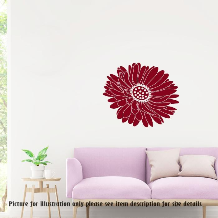Daisy Flower sticker Removable Vinyl Wall Decals