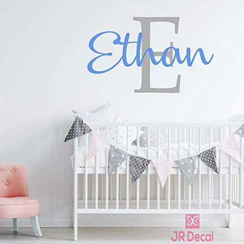 Personalized Boy name wall stickers removable vinyl nursery decor