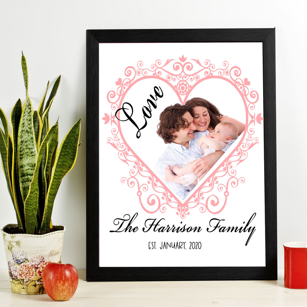 Family Personalized Name Picture Frame