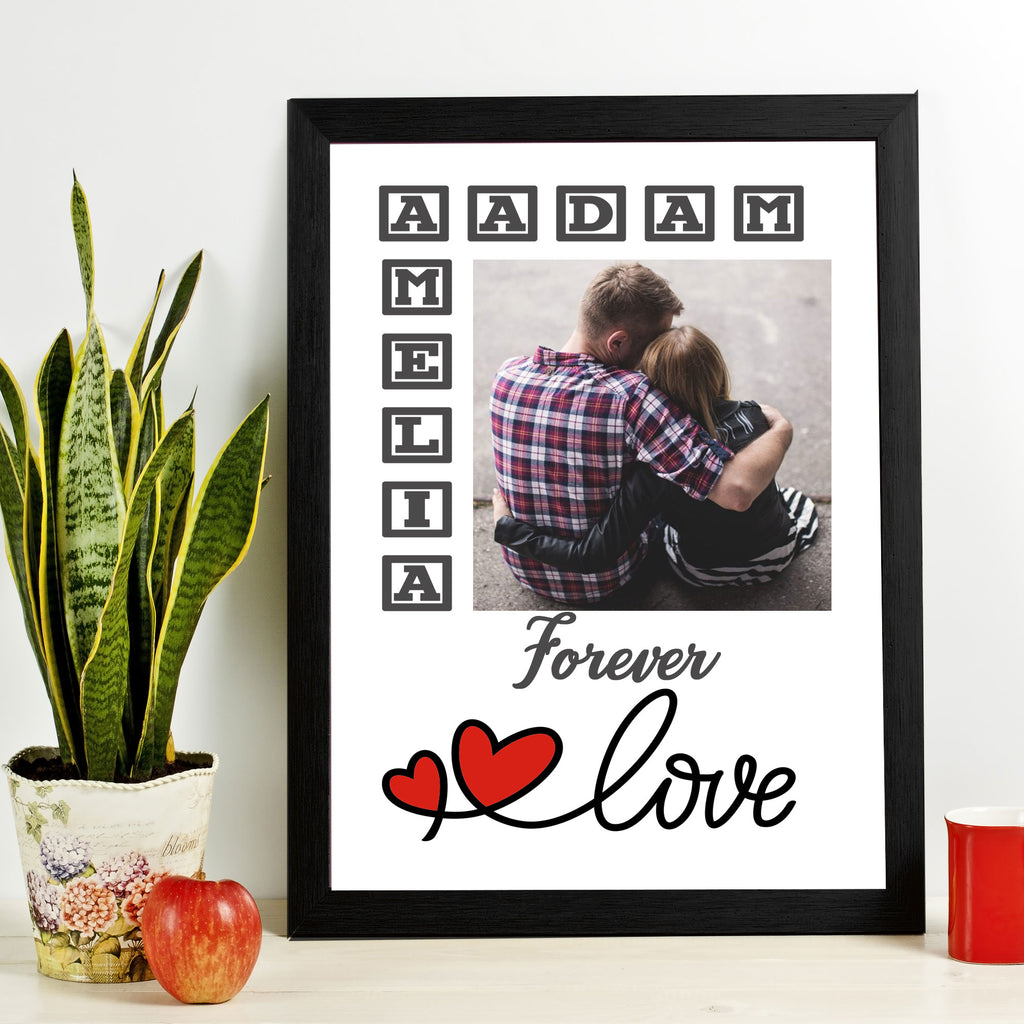 """Forever Love"" Couple Personalized Picture Frame"