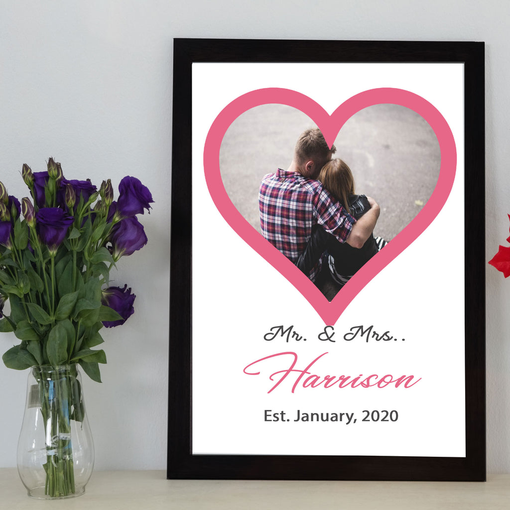 """Mr. & Mrs."" Couple Personalized Picture Frame"