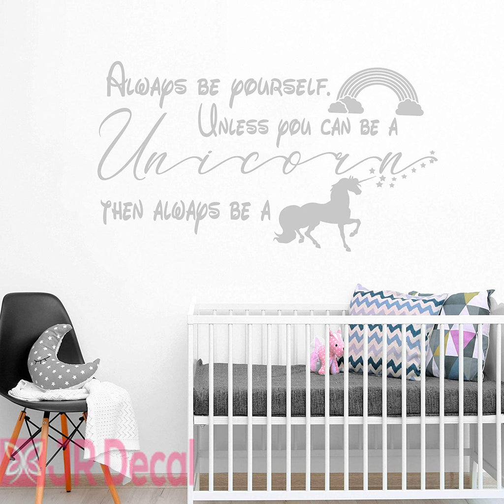 Always be Yourself- Unicorn Inspirational Wall Decals