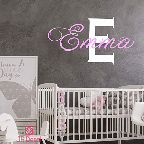 Monogram with Custom Name Wall Sticker
