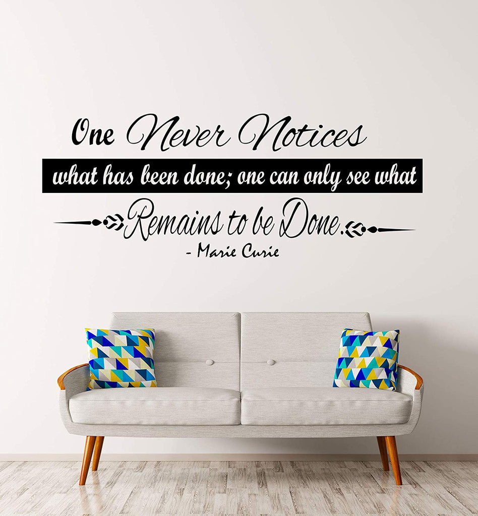Marie Curie inspiring quotes vinyl wall stickers