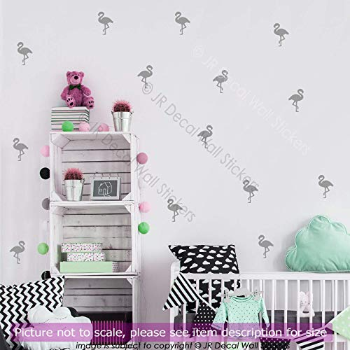 100 pieces (7cm) Flamingo Nursery Wall Stickers, Removable Vinyl Wall Decals, room, bath decors