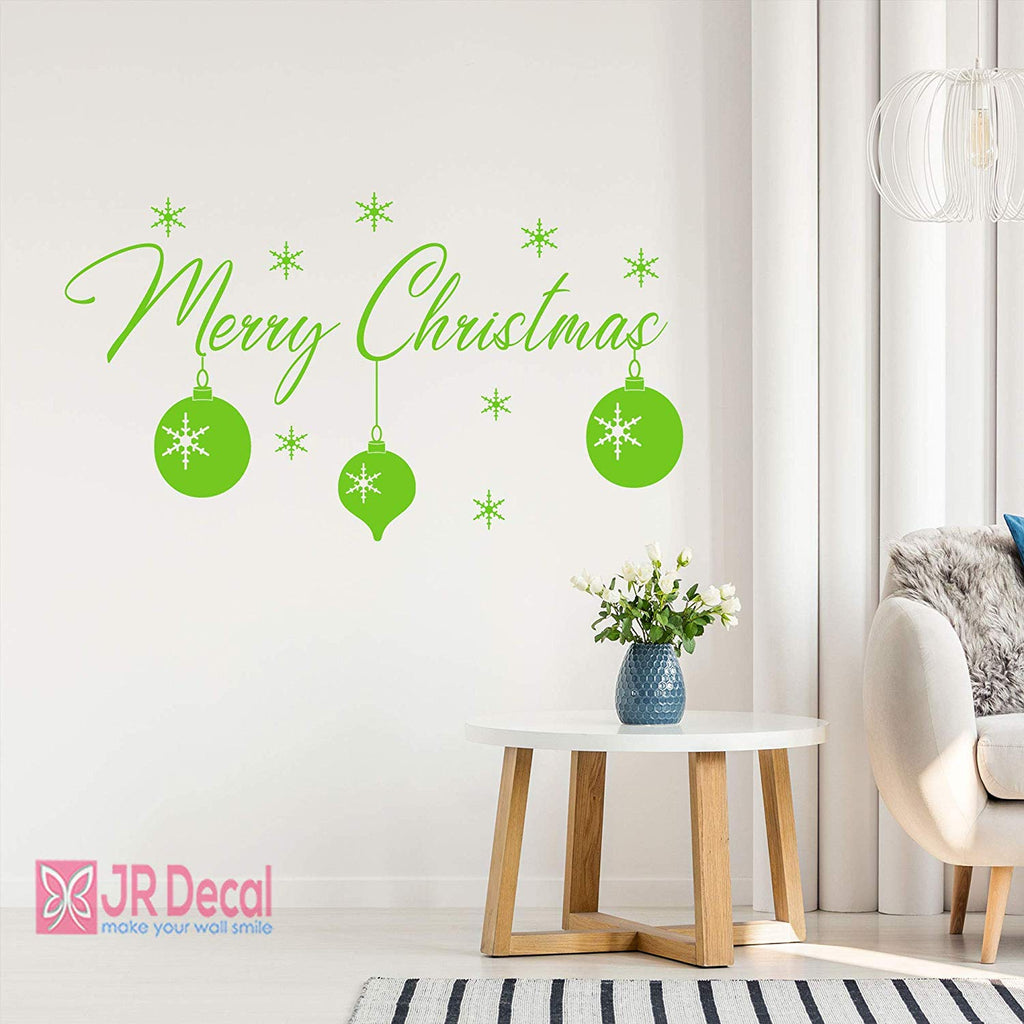 Merry Christmas wall sticker Shop window sign