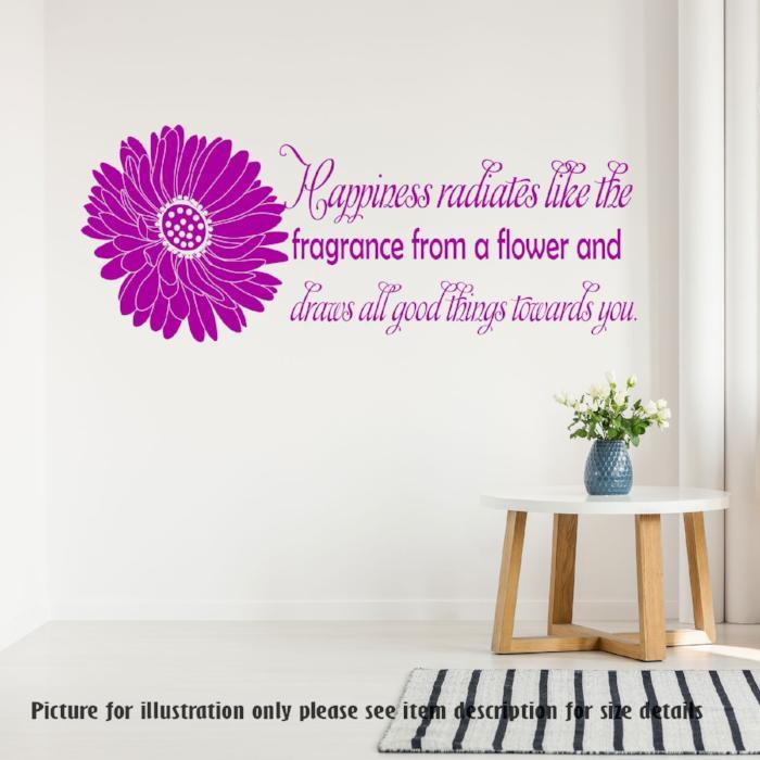 Happiness radiates like the fragrance from a flower Nursery Wall Art