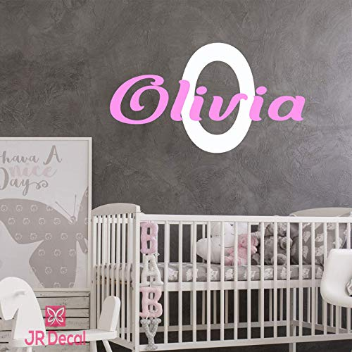 Girls name Monogram Personalized wall stickers decals