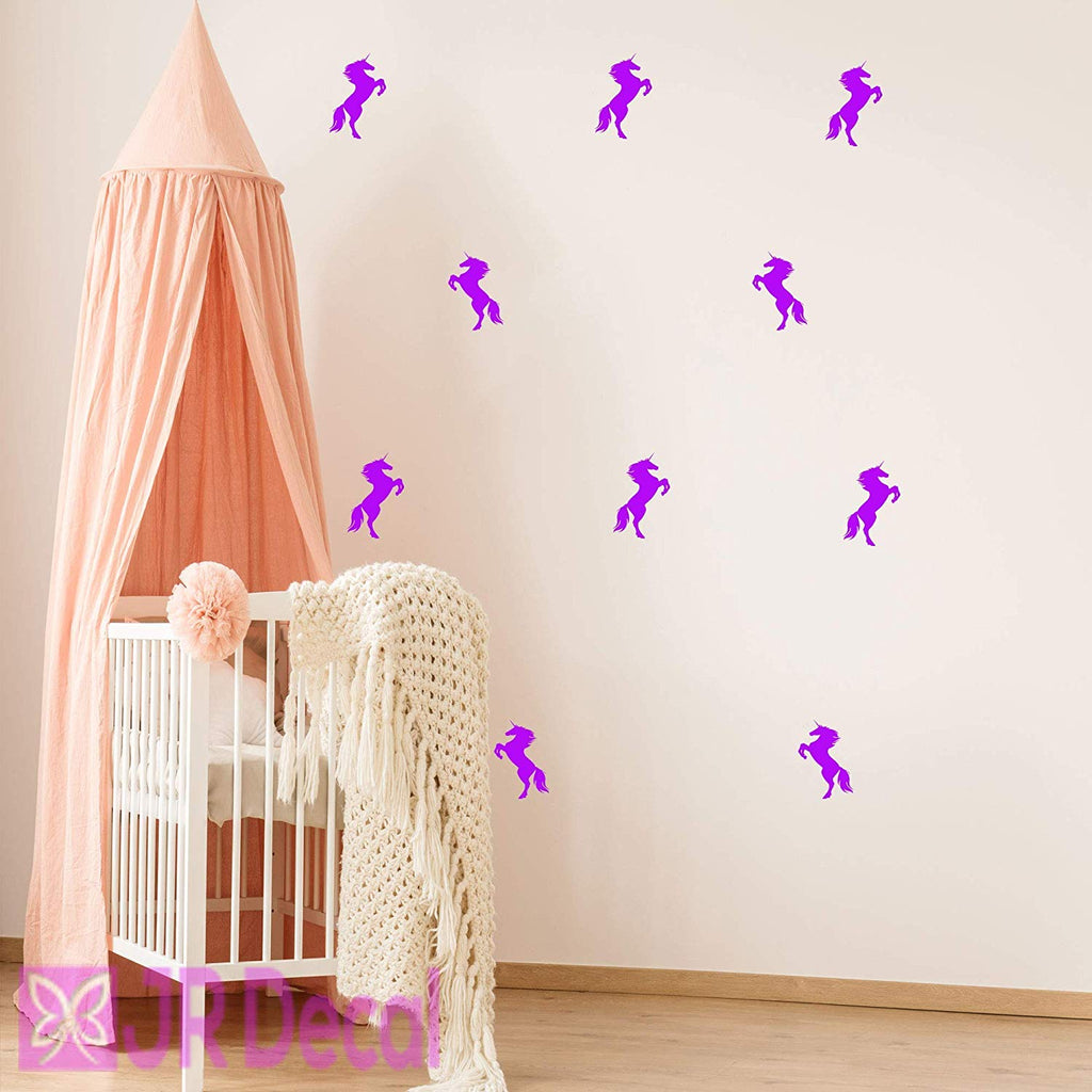 Unicorn set girls bedroom nursery Wall Decals