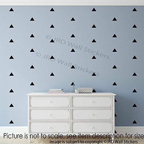 110 pieces Triangle Signs Wall Stickers Removable Vinyl decals