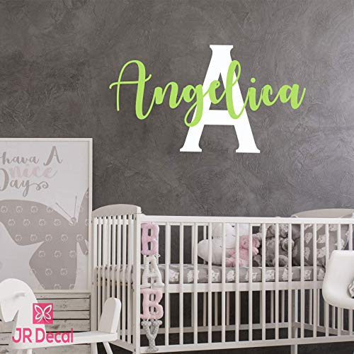 Custom name Monogram wall sticker nursery decor