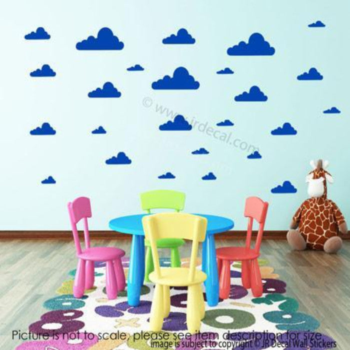 ... 40 X Cloud Removable Wall Stickers