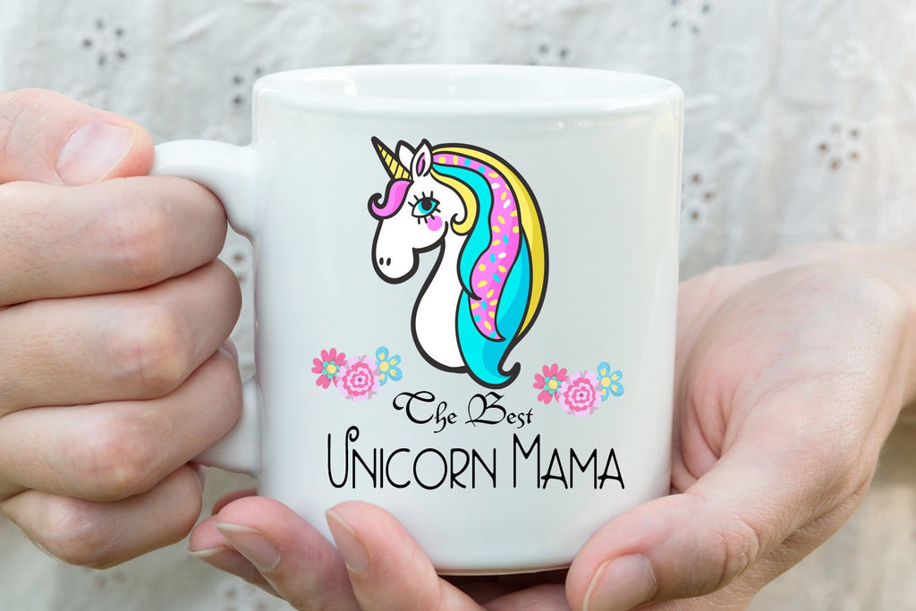 """The best Unicorn Mama"" Unicorn Printed Mom Mug"