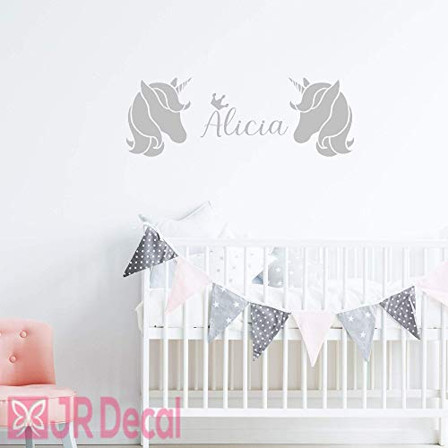Unicorn name Personalized wall stickers decals