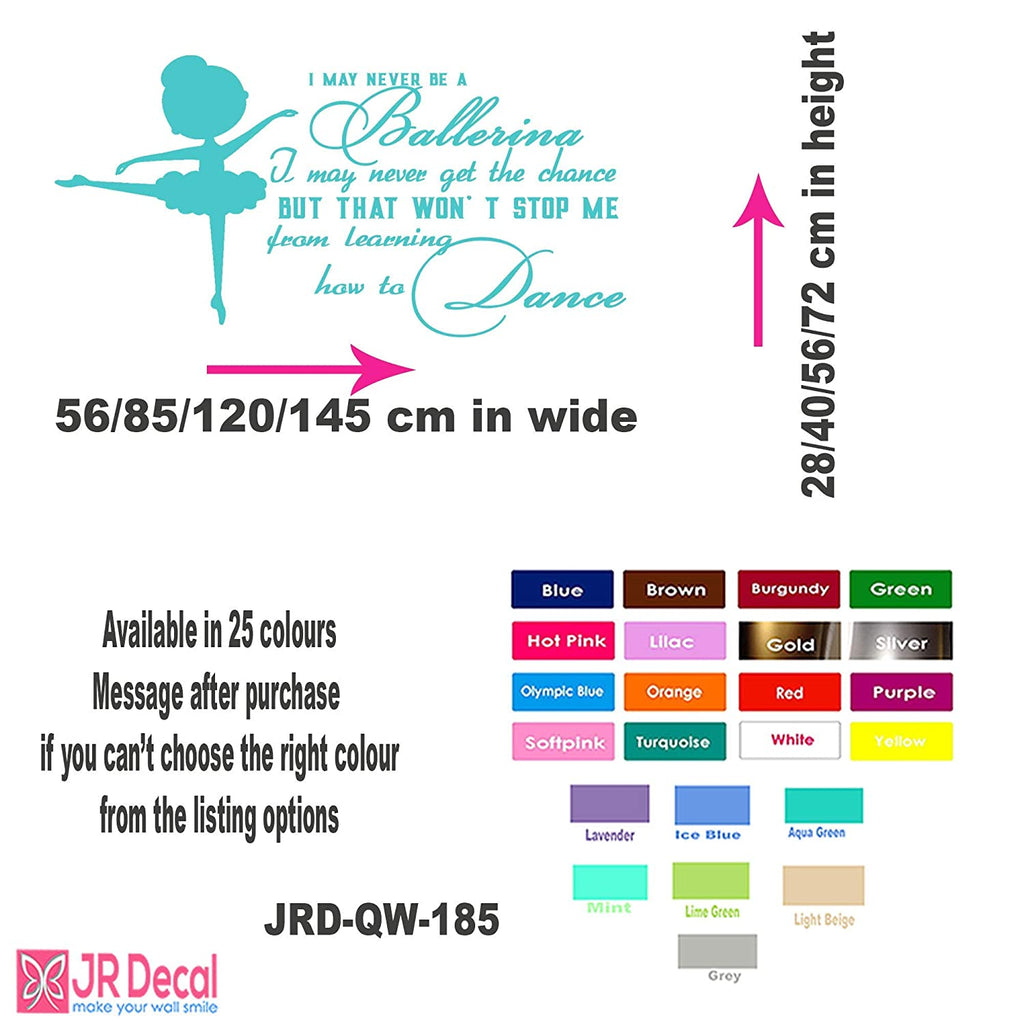 How to Dance - Little Ballerina quote nursery wall stickers