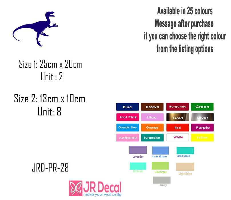 Tyrannosaurus T-Rex Dinosaur Wall Sticker, Dino Set Wall Decal Playroom Kid's Room Decor, Jurassic world theme wall stickers