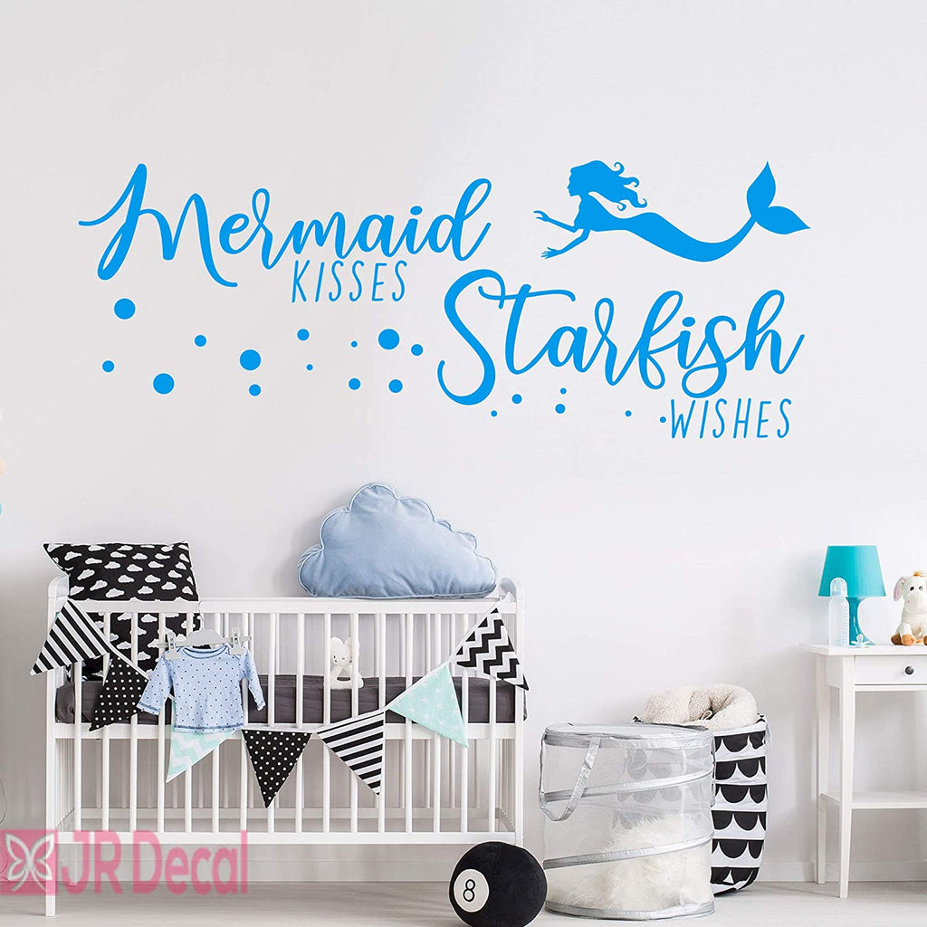 Mermaid kisses Starfish wishes- Nursery wall stickers