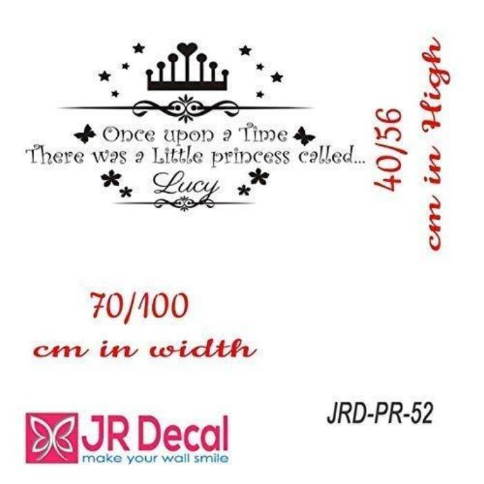 'Once upon a time'- Princess Personalised Name Sticker