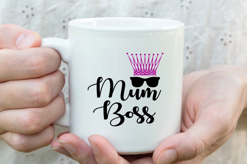 Mum Boss - Mothers Day Mug, family love Gift for Mom