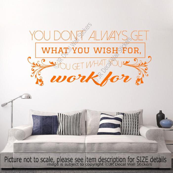 Motivational quote wall stickers