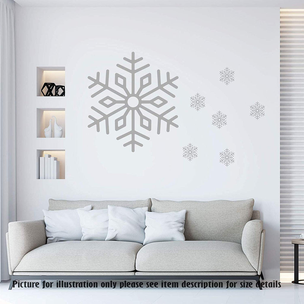Christmas Snowflakes stickers Xmas wall decor