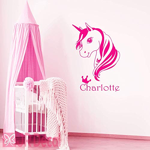 Personalized name sticker Unicorn wall stickers