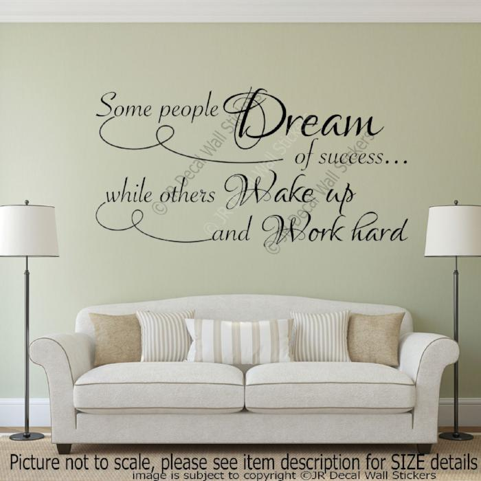 Inspirational quotes stickers for walls