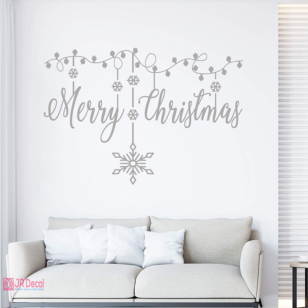 Merry Christmas Snowflake wall stickers Xmas decor