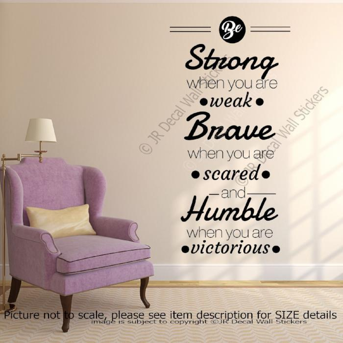"""Be Strong"" inspiring Quote Wall Stickers Removable Vinyl Wall Decal School Decor"
