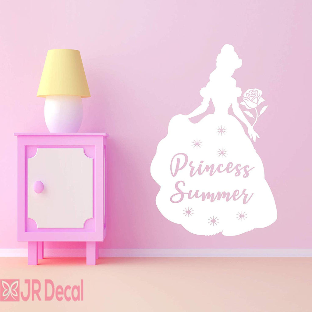 Princess Belle wall sticker with Personalised Name