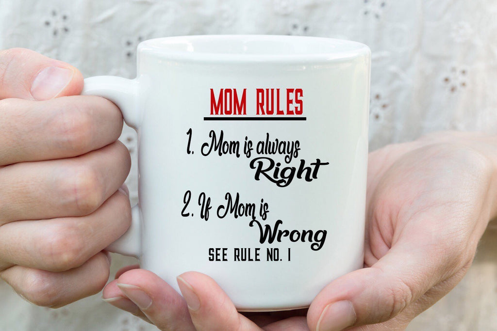 """Mom Rules"" Funny Mug for Mom"