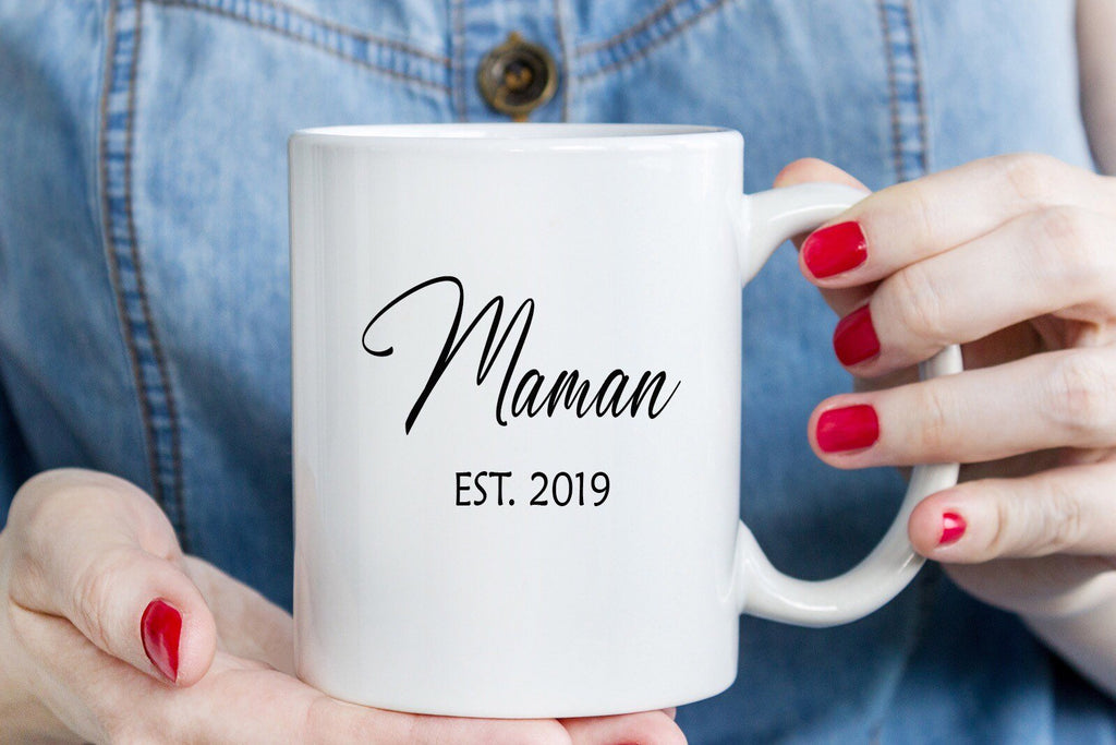 Maman - Mothers Day Mug, Coffee mugs Mom Christmas Gift