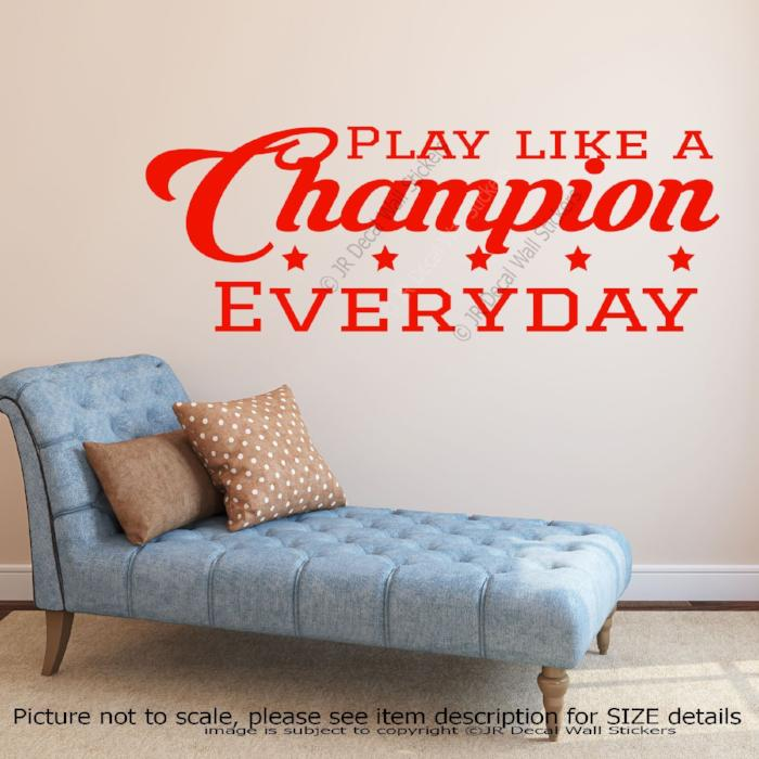 Motivational quote wall art decals