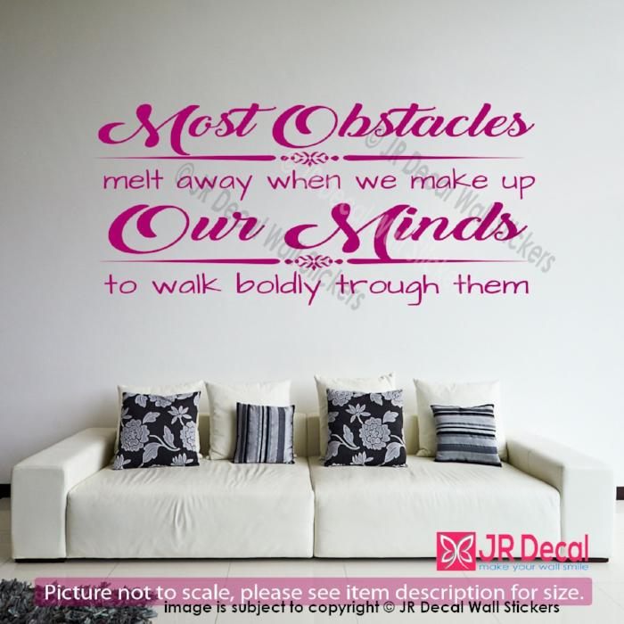 """We make up our Minds""- inspirational quotes wall stickers Vinyl wall art decals"