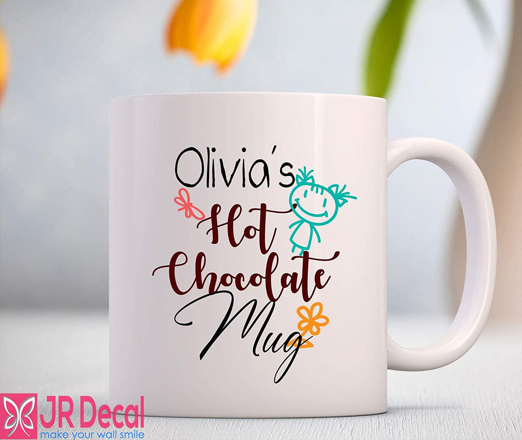 """Hot Chocolate"" Kids Personalized Coffee Mug"
